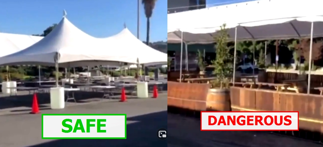 TYRANNY ALERT 🚨 Outdoor Dining SHUT DOWN While Similar Outdoor Setup For Movie Company APPROVED